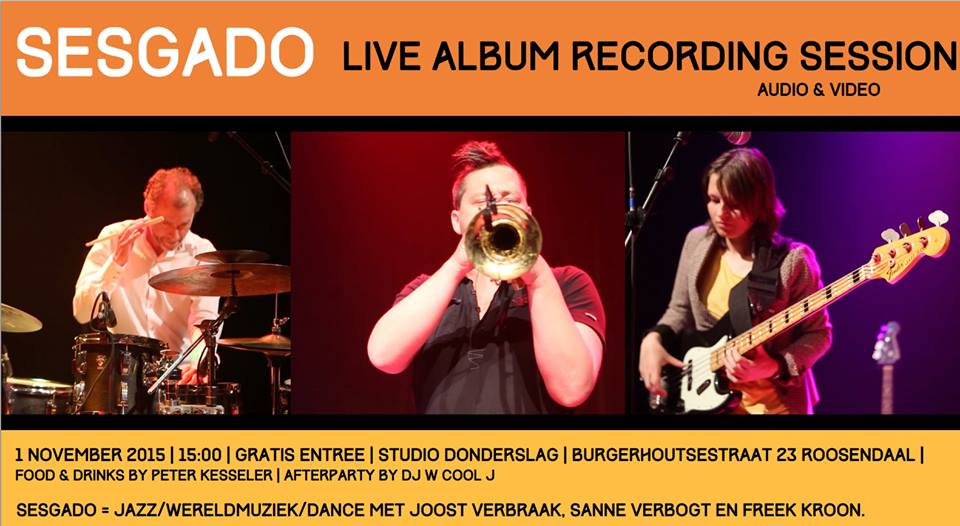 1 november Sesgado live recordings @ Studio Donderslag